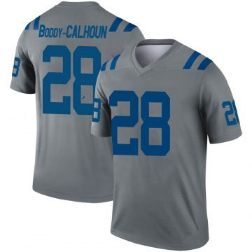 Youth Nike Indianapolis Colts Briean Boddy-Calhoun Gray Inverted Jersey - Legend
