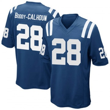 Youth Nike Indianapolis Colts Briean Boddy-Calhoun Royal Blue Team Color Jersey - Game