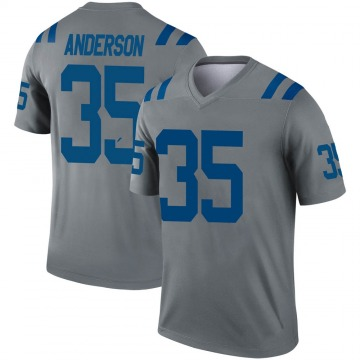 Youth Nike Indianapolis Colts Bruce Anderson Gray Inverted Jersey - Legend