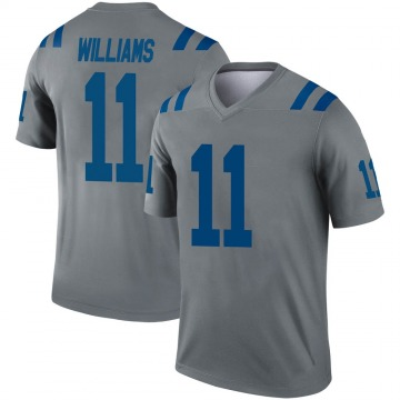 Youth Nike Indianapolis Colts Chad Williams Gray Inverted Jersey - Legend