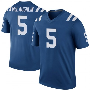 Youth Nike Indianapolis Colts Chase McLaughlin Royal Color Rush Jersey - Legend