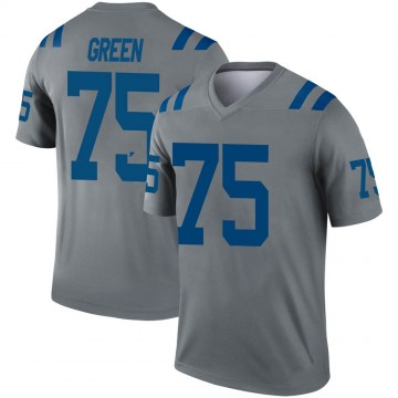 Youth Nike Indianapolis Colts Chaz Green Gray Inverted Jersey - Legend