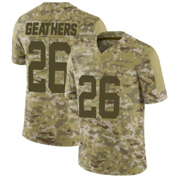 Youth Nike Indianapolis Colts Clayton Geathers Camo 2018 Salute to Service Jersey - Limited
