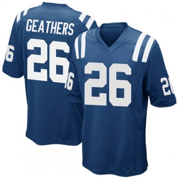 Youth Nike Indianapolis Colts Clayton Geathers Royal Blue Team Color Jersey - Game