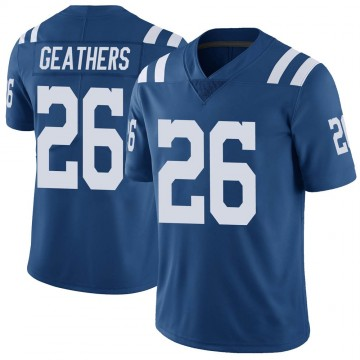 Youth Nike Indianapolis Colts Clayton Geathers Royal Color Rush Vapor Untouchable Jersey - Limited