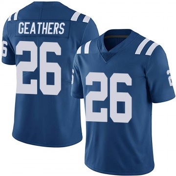 Youth Nike Indianapolis Colts Clayton Geathers Royal Team Color Vapor Untouchable Jersey - Limited