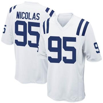 Youth Nike Indianapolis Colts Dadi Nicolas White Jersey - Game