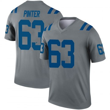 Youth Nike Indianapolis Colts Danny Pinter Gray Inverted Jersey - Legend
