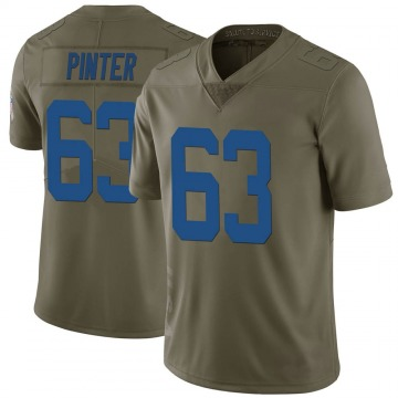 Youth Nike Indianapolis Colts Danny Pinter Green 2017 Salute to Service Jersey - Limited