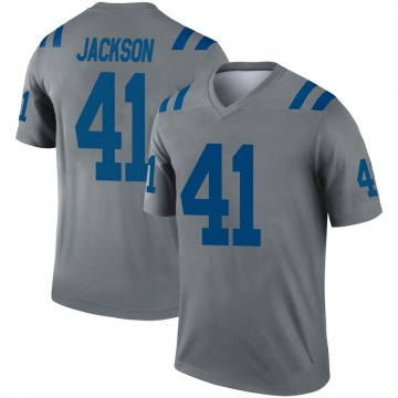 Youth Nike Indianapolis Colts Darius Jackson Gray Inverted Jersey - Legend