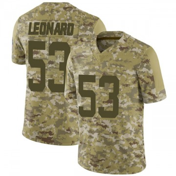 Youth Nike Indianapolis Colts Darius Leonard Camo 2018 Salute to Service Jersey - Limited