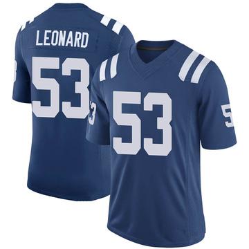 Youth Nike Indianapolis Colts Darius Leonard Royal 100th Vapor Jersey - Limited