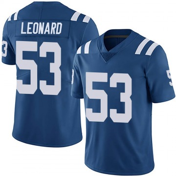 Youth Nike Indianapolis Colts Darius Leonard Royal Team Color Vapor Untouchable Jersey - Limited