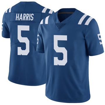 Youth Nike Indianapolis Colts De'Michael Harris Royal Color Rush Vapor Untouchable Jersey - Limited