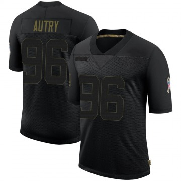 Youth Nike Indianapolis Colts Denico Autry Black 2020 Salute To Service Jersey - Limited