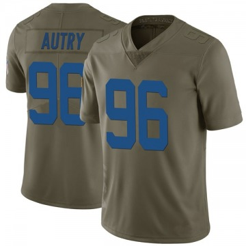 Youth Nike Indianapolis Colts Denico Autry Green 2017 Salute to Service Jersey - Limited