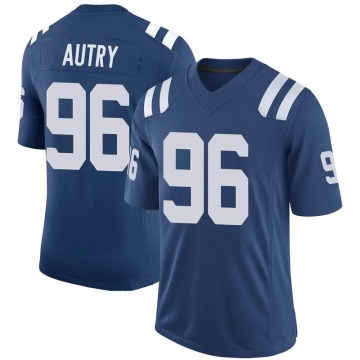 Youth Nike Indianapolis Colts Denico Autry Royal 100th Vapor Jersey - Limited