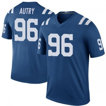 Youth Nike Indianapolis Colts Denico Autry Royal Color Rush Jersey - Legend