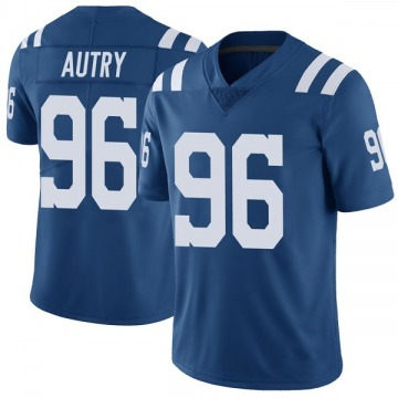 Youth Nike Indianapolis Colts Denico Autry Royal Color Rush Vapor Untouchable Jersey - Limited
