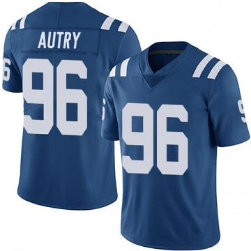 Youth Nike Indianapolis Colts Denico Autry Royal Team Color Vapor Untouchable Jersey - Limited