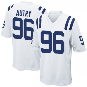 Youth Nike Indianapolis Colts Denico Autry White Jersey - Game