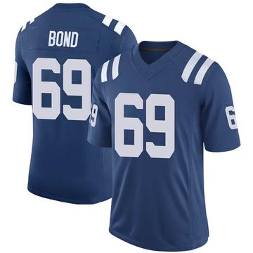 Youth Nike Indianapolis Colts Deyshawn Bond Royal 100th Vapor Jersey - Limited