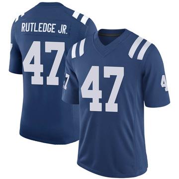 Youth Nike Indianapolis Colts Donald Rutledge Jr. Royal 100th Vapor Jersey - Limited