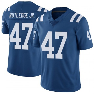 Youth Nike Indianapolis Colts Donald Rutledge Jr. Royal Color Rush Vapor Untouchable Jersey - Limited