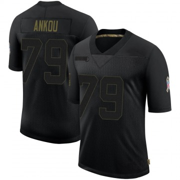 Youth Nike Indianapolis Colts Eli Ankou Black 2020 Salute To Service Jersey - Limited