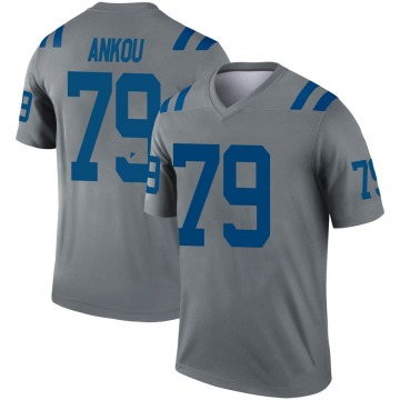 Youth Nike Indianapolis Colts Eli Ankou Gray Inverted Jersey - Legend