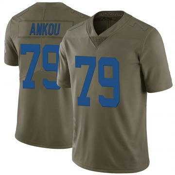 Youth Nike Indianapolis Colts Eli Ankou Green 2017 Salute to Service Jersey - Limited
