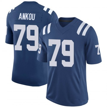 Youth Nike Indianapolis Colts Eli Ankou Royal 100th Vapor Jersey - Limited