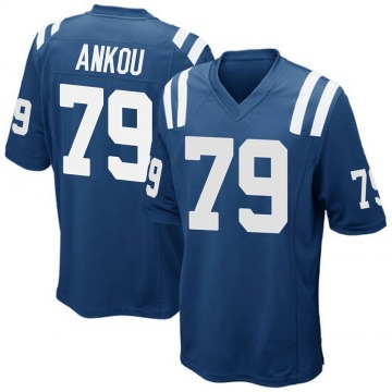 Youth Nike Indianapolis Colts Eli Ankou Royal Blue Team Color Jersey - Game