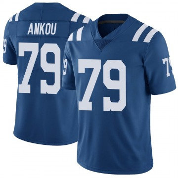 Youth Nike Indianapolis Colts Eli Ankou Royal Color Rush Vapor Untouchable Jersey - Limited