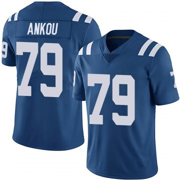 Youth Nike Indianapolis Colts Eli Ankou Royal Team Color Vapor Untouchable Jersey - Limited