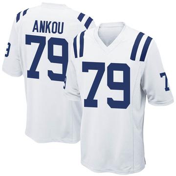 Youth Nike Indianapolis Colts Eli Ankou White Jersey - Game