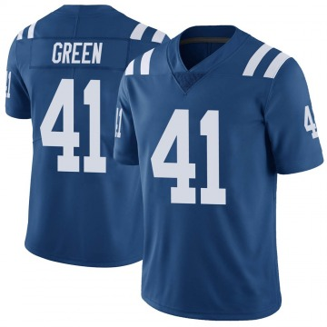 Youth Nike Indianapolis Colts Farrod Green Green Color Rush Royal Vapor Untouchable Jersey - Limited