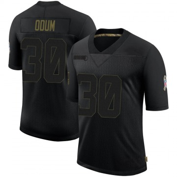 Youth Nike Indianapolis Colts George Odum Black 2020 Salute To Service Jersey - Limited
