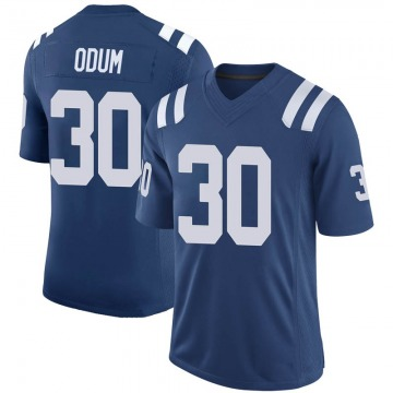 Youth Nike Indianapolis Colts George Odum Royal 100th Vapor Jersey - Limited