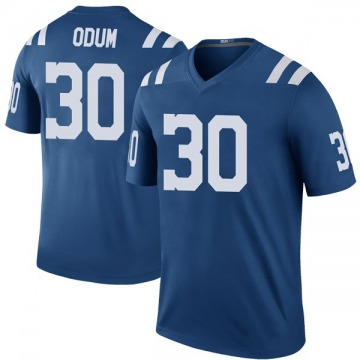 Youth Nike Indianapolis Colts George Odum Royal Color Rush Jersey - Legend