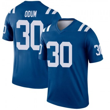 Youth Nike Indianapolis Colts George Odum Royal Inverted Jersey - Legend