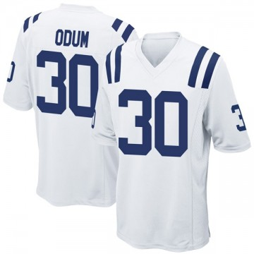 Youth Nike Indianapolis Colts George Odum White Jersey - Game