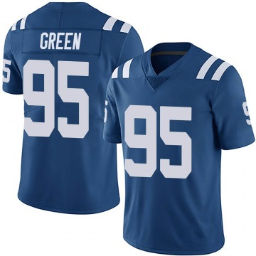 Youth Nike Indianapolis Colts Gerri Green Green Royal Team Color Vapor Untouchable Jersey - Limited