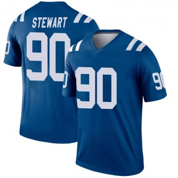 Youth Nike Indianapolis Colts Grover Stewart Royal Inverted Jersey - Legend