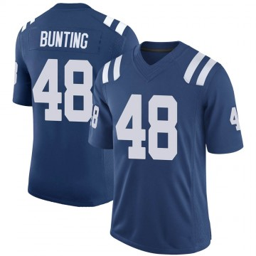 Youth Nike Indianapolis Colts Ian Bunting Royal 100th Vapor Jersey - Limited