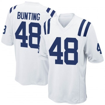 Youth Nike Indianapolis Colts Ian Bunting White Jersey - Game