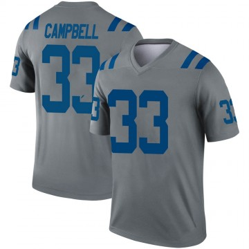 Youth Nike Indianapolis Colts Ibraheim Campbell Gray Inverted Jersey - Legend