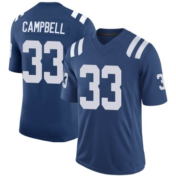 Youth Nike Indianapolis Colts Ibraheim Campbell Royal 100th Vapor Jersey - Limited
