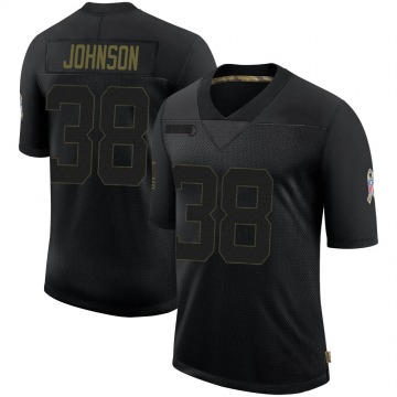 Youth Nike Indianapolis Colts Isaiah Johnson Black 2020 Salute To Service Jersey - Limited