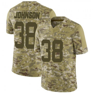 Youth Nike Indianapolis Colts Isaiah Johnson Camo 2018 Salute to Service Jersey - Limited